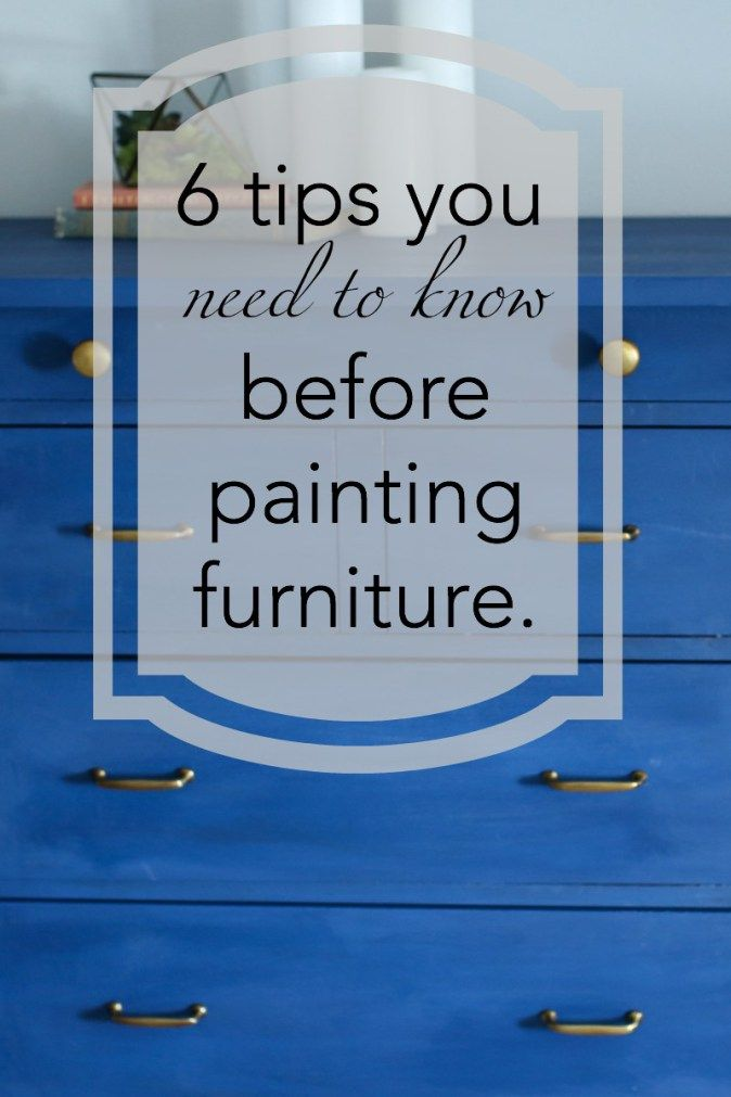 Don't miss these 6 tips for painting furniture that will save you time!