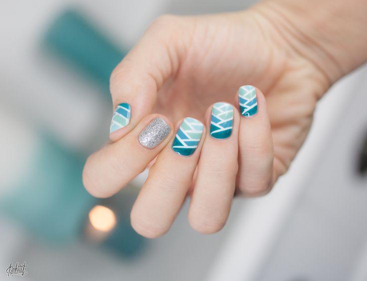 Mermaid braid nail art tutorial