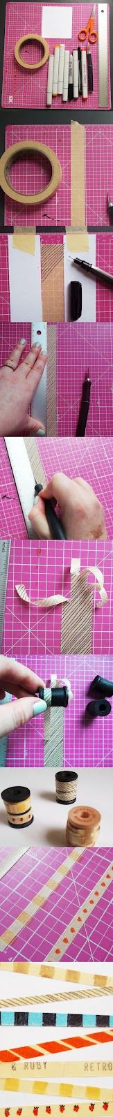 Retro and Ruby: Handmade Washi Tape Tutorial