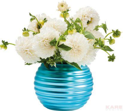 Vase Helix Matt Blue 15cm