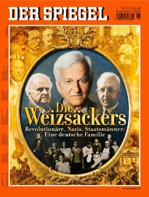 15.3.2010: Seit gut 150 Jahren zählen die Weizsäckers zu den bedeutenden Familien des Landes: herausragende Wissenschaftler, führende Politiker, höchste Beamte. Sie verkörpern die besten Traditionen des Bildungsbürgertums. Aber auch ihr Weg führt in die Abgründe des Holocaust. Jetzt wird Richard von Weizsäcker 90 Jahre alt. http://www.spiegel.de/spiegel/print/d-69518834.html http://magazin.spiegel.de/EpubDelivery/spiegel/pdf/69518834