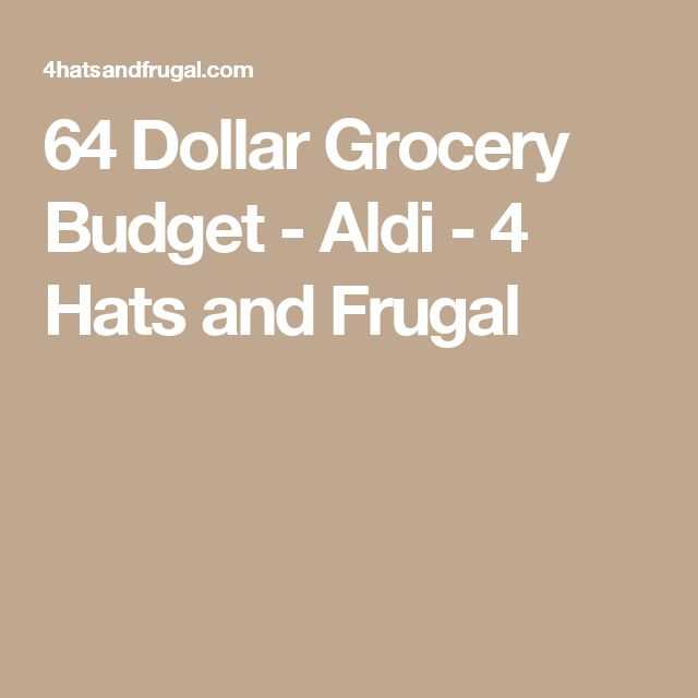 64 Dollar Grocery Budget - Aldi - 4 Hats and Frugal