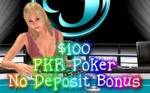 Let\'s check out how it is possible to obtain as much as $100 no deposit poker starting capital on PKR without any cost for the player. Players can get a hold of this No Deposit PKR Bonus in case they do not posses a PKR membership already.