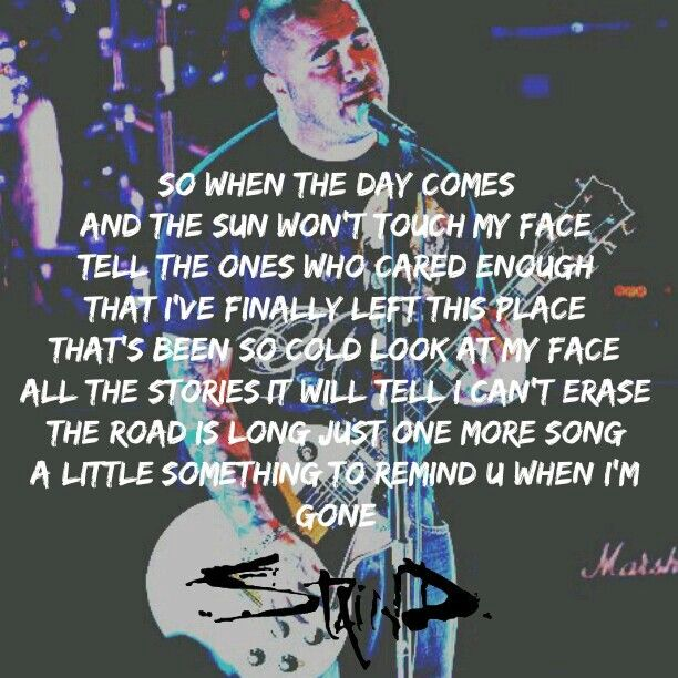 """#Staind """"something to remind you"""""""