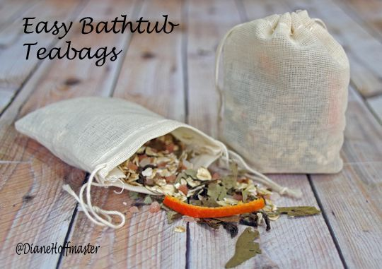Natural Bath Products: Bathtub Teabags - Turning the Clock Back