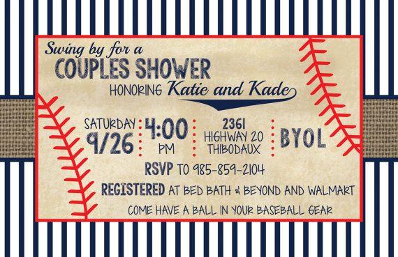 Vintage Baseball Couples Shower Invitation by wwwmakemydayllccom