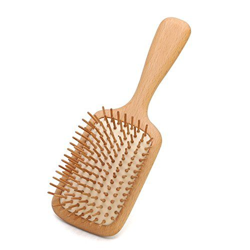 100% Natural Wooden Hair Brush for Women Large Size Good Beech Brush for Long Curly Hair Detangling Paddle HairBrush Stimulate Scalp Help Growth Protect Hair Shine. For product & price info go to:  https://beautyworld.today/products/100-natural-wooden-hair-brush-for-women-large-size-good-beech-brush-for-long-curly-hair-detangling-paddle-hairbrush-stimulate-scalp-help-growth-protect-hair-shine/
