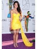 Emmanuelle Chriqui Vibrant Yellow Party Dress 2011 CFDA Awards Celebrity Dresses - TheCelebrityDresses