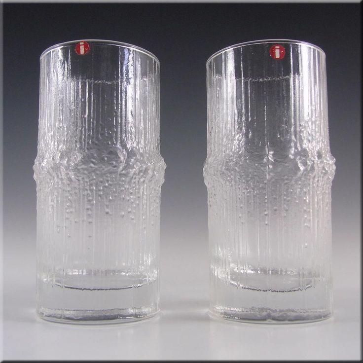 Iittala Tapio Wirkkala Swedish Glass Niva Tumblers - Label - £29.99