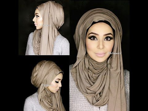 NO PINS arab inspired hijaab tutorial ft. the Hooded J |by fatihasworld العربي الحجاب - YouTube