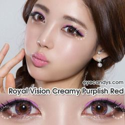 Kawaii mode on 🎀✌🏻 // Royal Vision Creamy Violet // Power 0.00~-8.00 // SHOP ▶ http://eyecandys.com ◀ #eyecandys