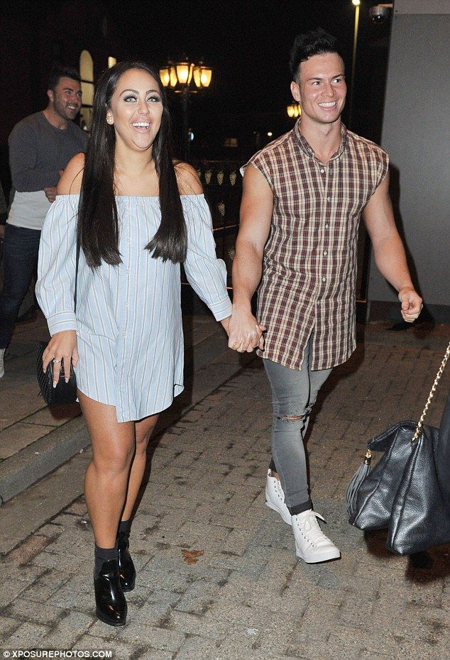 Look who's back: Sophie Kasaei and her boyfriend Joel Corry held hands during a Geordie Sh...