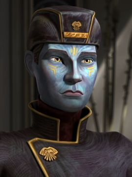 Ion Papanoida was a male Pantoran who lived during the Clone Wars. He was the son of Pantora's chairman, Baron Notluwiski Papanoida, and was the brother of Chi Eekway Papanoida and Che Amanwe Papanoida. Ion accompanied his father to Coruscant, where he and his father spoke with Senator Chuchi about Trade Federation blockade of their planet. He informed her that their were crying out to join the Separatists.