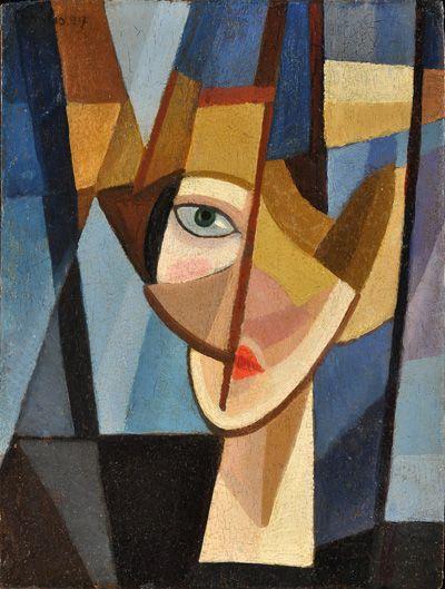 """""""La Inglesa o La Rubia"""" by Emilio Pettoruti - (1892 -1971)"""