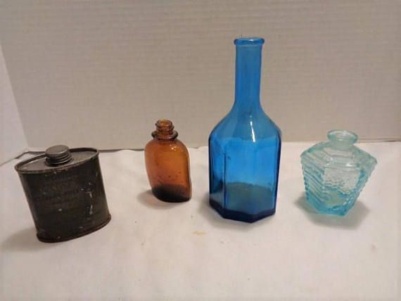 Mixed Lot of Collectible Vintage Glass Bottles and WW II Rifle