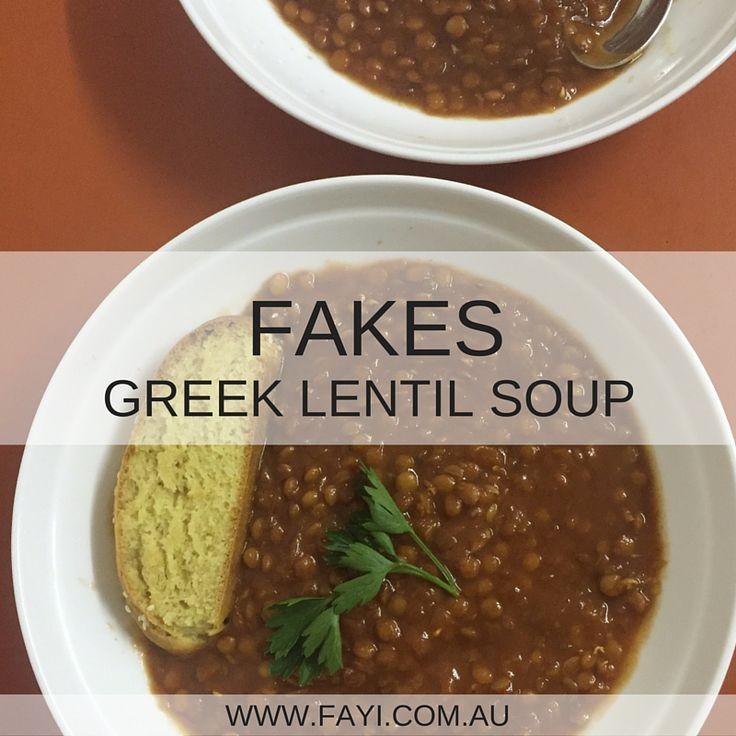 Fakes - Greek Lentil Soup