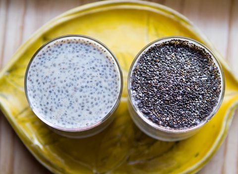 Chia Seed Pudding    ~1 cup soy milk (or other non-dairy beverage)  ~ vanilla extract  ~ 2 Tbsp chia seeds  ~1 Tbsp maple syrup  ~ optional: spices such as cinnamon  ~  Mix all ingredients and leave in fridge overnight - eat as is or serve over oatmeal with add fruit.: Fun Recipes, Raw Recipes, Puddings, For Kids, Chia Seeds, Food, Cheat Sheet, Health, Chia Pudding