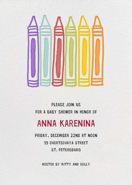 Crayons By Alli Arnold For Paperless Post. Design Custom Invitations For Baby  Showers With A