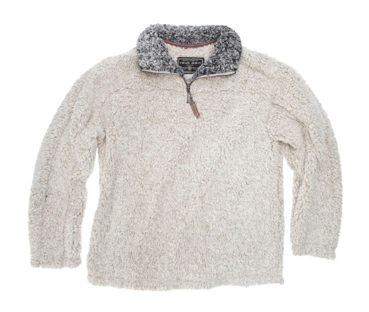 True Grit Frosty Tipped Pullover in Putty by True Grit from THE LUCKY KNOT