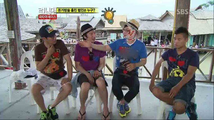 Running Man: Episode 51 » Dramabeans » Deconstructing korean dramas and kpop culture. Ep 51 Part 2 Bangkok Thailand with guest Kim Min-jung and Nichkhun (2PM). ~ sitting in jail cause this is where being eliminated on Running Man will get you. ~.
