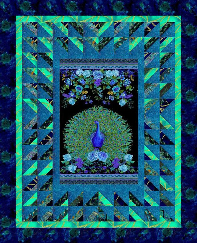 Enchanted Plume- Love Those Panels- Cozy Quilt Designs