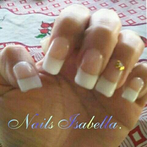 Manicure completa. Aplicacion de uñas acrigel. French permanente con gel. Decoracion en dos uñas.