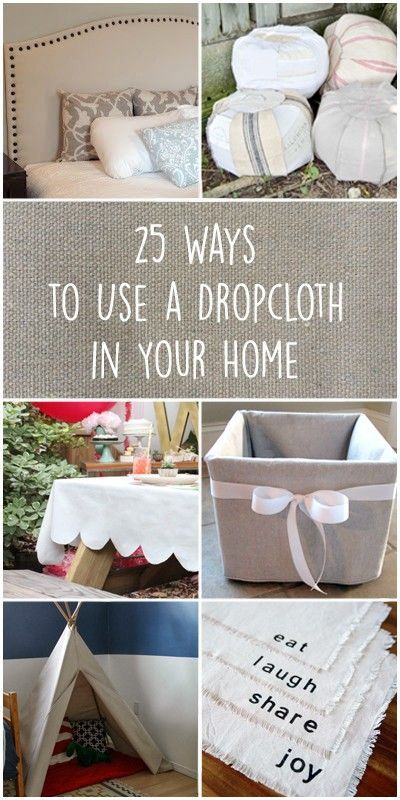 Try these 25 amazing ways to use a dropcloth in yo…