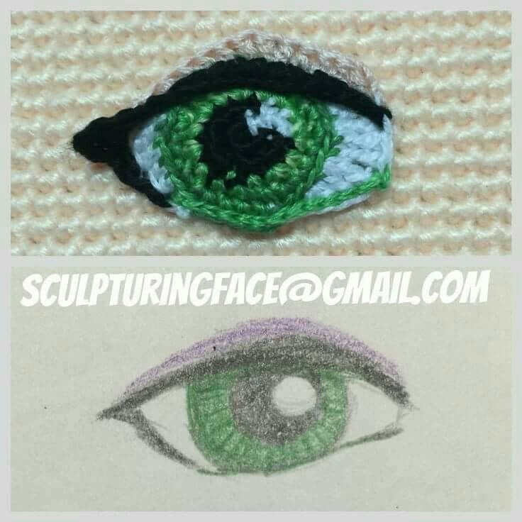 Crochet amigurumi eye