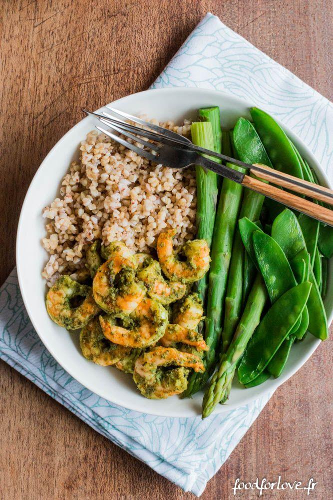 Assiette Complète aux Crevettes - Food for Love
