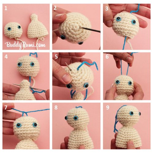 Amigurumi How to do Movable Head - Tutorial ♡ Teresa Restegui http://www.pinterest.com/teretegui/ ♡