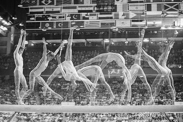 #Repost @gettysport: Perfection, personified. #50Days50Moments Montreal, 1976: Romania's #NadiaComaneci wins three #gold medals at the 1976 Summer #Olympics, becoming the first gymnast to be awarded a perfect score of 10 in an Olympic #gymnastics event. | July, 1976 | 📷: Bettmann | #GettySport #CountdownToRio #RoadToRio #Rio2016 #🏅