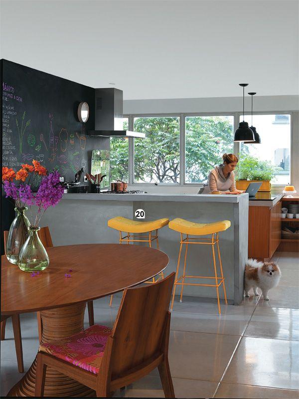 cozinha com sala