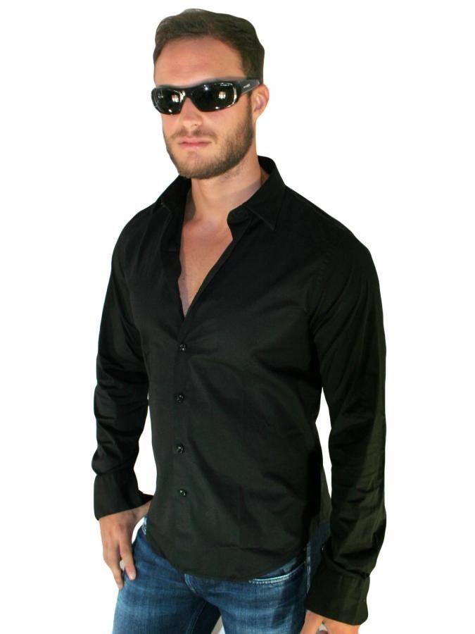 REPLAY Μακρυμάνικο slim fit ελαστικό πουκάμισο