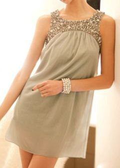 cute sequin and ruffle dress #bridesmaid #dresses #short #neutrals