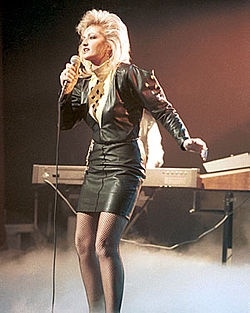 """Bonnie Tyler - raspy voiced Welsh singer with a few hits in the late '70s through mid-'80s. More popular in Great Britain than the states. Remembered for """"It's a Heartache"""" and """"Total Eclipse Of the Heart."""""""