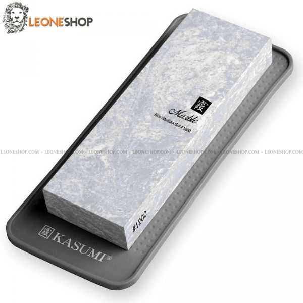 """KASUMI Ceramic Sharpening Stone K-80007, japanese sharpening stones with grain #1200 - This professional Ceramic stone has a marble composition that enables you to sharpen the most of your professional japanese knife, the grain #1200 is used to sharpen knives with the edge not damaged or for finishing work - Supplied with silicone base - Dimensions 7.1"""" x 2.4"""" x 1.2"""" - KASUMI Professional Japanese sharpening stone, a truly exceptional product with quality materials...."""