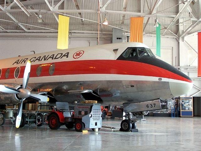 Western Canada Aviation Museum Viscount c/n 279 CF-THS taken in September 2004