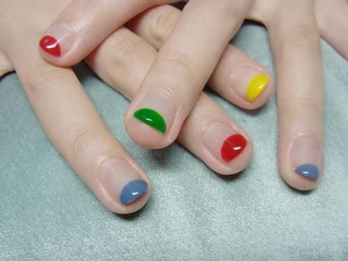 Colorful tips mani via coterie | follow and share for more