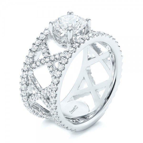 Fabulous Custom Diamond Engagement Ring