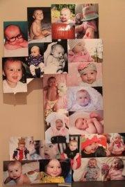 1 year birthday collage