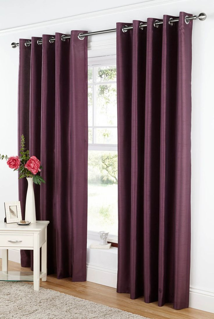 Charming Good Quality Curtains Uk Part - 12: Take A Look At Our Java Ready Made Eyelet Curtains Aubergine, Great Quality  And Affordable Prices At Terrys Fabrics