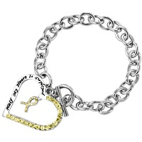 Half My Heart is Deployed Yellow Ribbon Bracelet at The Animal Rescue Site - $7.00