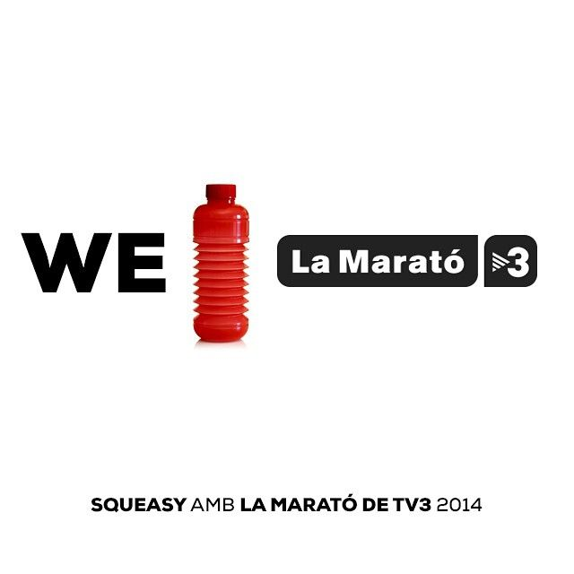 #Squeasy amb #LaMarató de #TV3 2014. Aportant un 5% de totes les vendes realitzades avui diumenge 14 de desembre a #Inderum (Popup Store al Passeig de Gràcia, 64, BCN) i a través d'www.squeasy.es