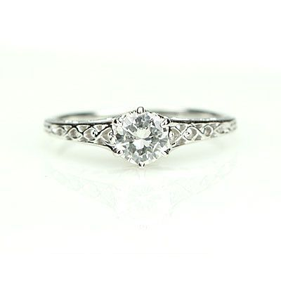 Vintage Engagement Ring -- Edwardian Style