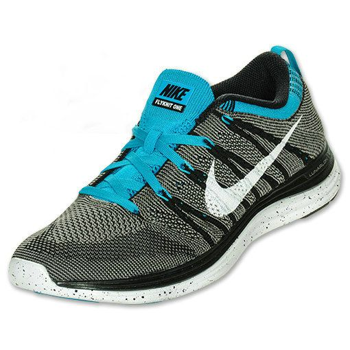 info for d5265 a79d7 Mens Nike Flyknit Lunar 1 Black White Charcoal Turq 554887 010