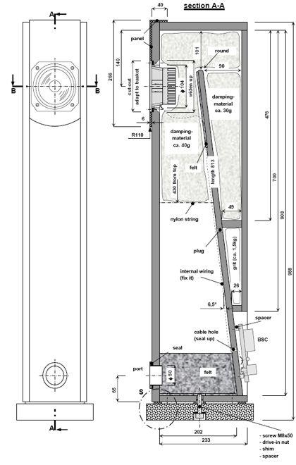 Fostex FX120 MLTL Speaker Project   Speaker Plans