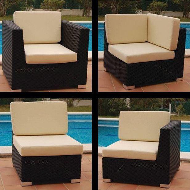 butaca sof modular y rinconero para exterior jamaica de bamb blau estructura de
