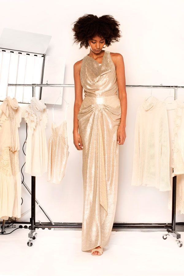 Lisa Brown Designs Winter Collection 2015.  Juliana Metallic Draped Long Dress.  Follow us on FB and IG http://www.facebook.com.au/bylisabrown http://www.instagram.com/lisabrowndesigns and online at http://www.lisa-brown.com.au   #lisabrowndesigns #fashion #style #winter #styled #beautiful #australia #model