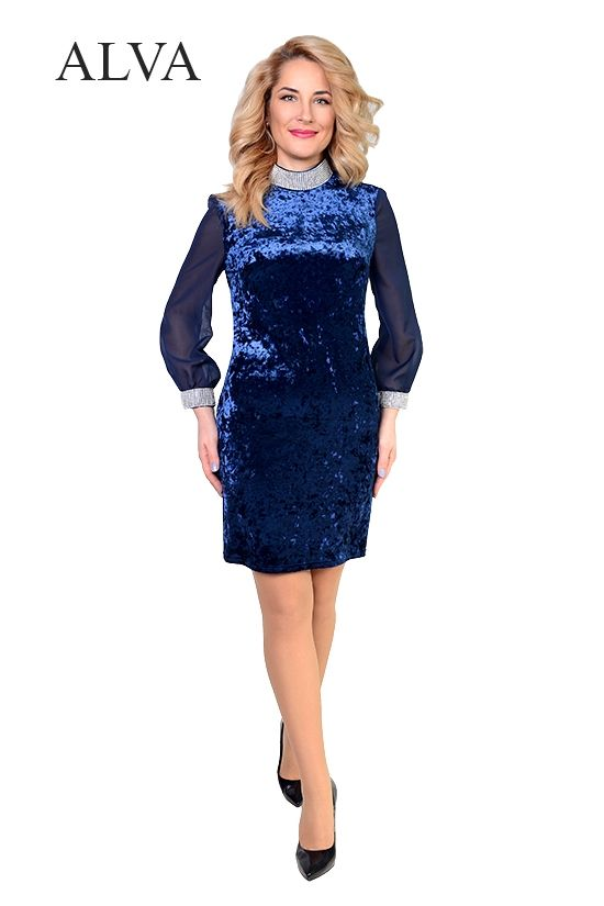 676d2ef04d0a4ab Размеры: 48-54 Элегантное, вечерние платье Светлана 8466-4 цвета электрик,