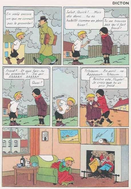Tintin Comics French Quick et Flupke - 1930...